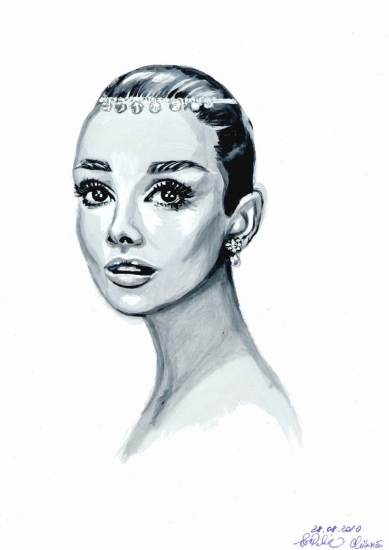 Audrey Hepburn by svetliaciok